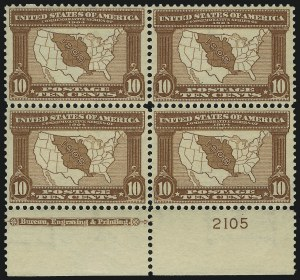 Sale Number 1000, Lot Number 1197, Louisiana Purchse, Jamestown Issues10c Louisiana Purchase (327), 10c Louisiana Purchase (327)