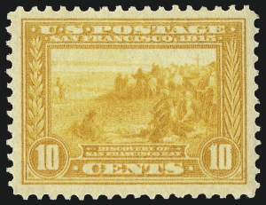 Sale Number 1000, Lot Number 1213, Panama-Pacific Issue10c Orange Yellow, Panama-Pacific (400), 10c Orange Yellow, Panama-Pacific (400)