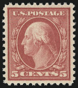 Sale Number 1000, Lot Number 1231, Washington-Franklin Issues5c Rose, Error (505), 5c Rose, Error (505)