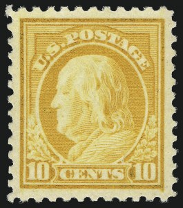 Sale Number 1000, Lot Number 1236, Washington-Franklin Issues10c Orange Yellow (510), 10c Orange Yellow (510)