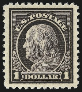 Sale Number 1000, Lot Number 1243, Washington-Franklin Issues$1.00 Violet Brown (518), $1.00 Violet Brown (518)