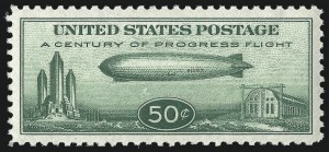 Sale Number 1000, Lot Number 1270, Air Post50c Chicago Zeppelin (C18), 50c Chicago Zeppelin (C18)