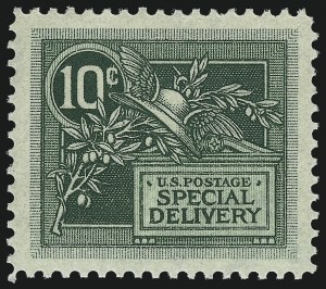 Sale Number 1000, Lot Number 1276, Special Delivery10c Green, Special Delivery (E7), 10c Green, Special Delivery (E7)