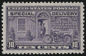 Sale Number 1000, Lot Number 1285, Special Delivery10c Gray Violet, Special Delivery (E15), 10c Gray Violet, Special Delivery (E15)