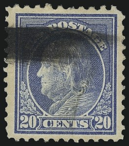 Sale Number 1001, Lot Number 2090, 1917-19 Issue Perforation Varieties (Scott 512b-516a)20c Light Ultramarine, Perf 10 at Top (515d), 20c Light Ultramarine, Perf 10 at Top (515d)