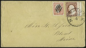 Sale Number 1002, Lot Number 4085, Local and Private Posts - Hale thru WymanSwarts' City Dispatch Post, New York N.Y., (1c) Red on Wove (136L9), Swarts' City Dispatch Post, New York N.Y., (1c) Red on Wove (136L9)