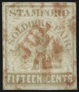 Sale Number 1002, Lot Number 4099, Sanitary FairSoldier's Fair, Stamford Conn., 15c Pale Brown (WV15), Soldier's Fair, Stamford Conn., 15c Pale Brown (WV15)