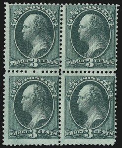 Sale Number 983, Lot Number 108, 1870-88 Bank Note Issues3c Green, With Grill (158e), 3c Green, With Grill (158e)