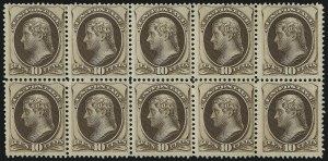 Sale Number 983, Lot Number 112, 1870-88 Bank Note Issues10c Brown (161), 10c Brown (161)