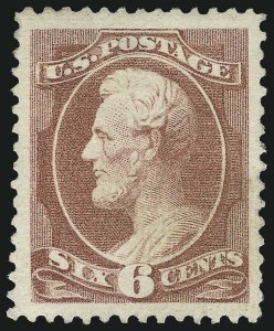 Sale Number 983, Lot Number 124, 1870-88 Bank Note Issues6c Deep Brown Red (208a), 6c Deep Brown Red (208a)