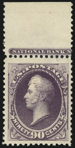 Sale Number 983, Lot Number 131, 1870-88 Bank Note Issues90c Purple (218), 90c Purple (218)