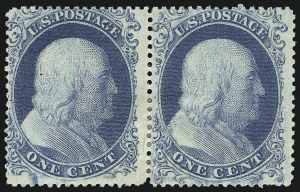 Sale Number 983, Lot Number 14, 1857-60 Issue 1c Blue, Ty. II-I (20-18), 1c Blue, Ty. II-I (20-18)