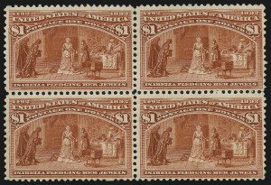 Sale Number 983, Lot Number 150, Columbian Issue$1.00 Columbian (241), $1.00 Columbian (241)