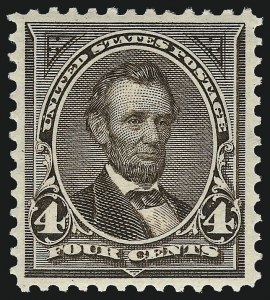 Sale Number 983, Lot Number 165, 1894-98 Bureau Issue4c Dark Brown (269), 4c Dark Brown (269)