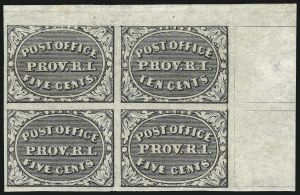 Sale Number 983, Lot Number 2, Postmasters ProvisionalsProvidence R.I., 5c & 10c Gray Black, Se-Tenant (10X2a), Providence R.I., 5c & 10c Gray Black, Se-Tenant (10X2a)