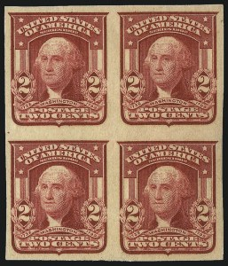 Sale Number 983, Lot Number 206, 1902-08 Issue2c Lake, Ty. II, Imperforate (320a), 2c Lake, Ty. II, Imperforate (320a)
