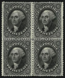 Sale Number 983, Lot Number 28, 1857-60 Issue 12c Black, Plate 3 (36B), 12c Black, Plate 3 (36B)