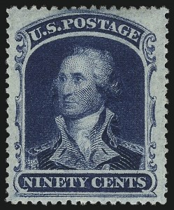 Sale Number 983, Lot Number 33, 1857-60 Issue 90c Blue (39), 90c Blue (39)