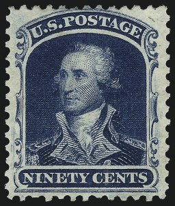 Sale Number 983, Lot Number 40, 1875 Reprint of 1857-60 Issue90c Deep Blue, Reprint (47), 90c Deep Blue, Reprint (47)