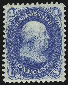 Sale Number 983, Lot Number 43, 1861-66 Issue1c Blue (63), 1c Blue (63)
