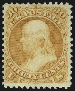 Sale Number 983, Lot Number 49, 1861-66 Issue30c Orange (71), 30c Orange (71)