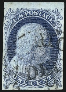 Sale Number 983, Lot Number 5, 1851-56 Issue1c Blue, Ty. Ib (5A), 1c Blue, Ty. Ib (5A)