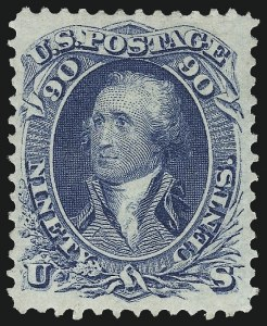 Sale Number 983, Lot Number 50, 1861-66 Issue90c Blue (72), 90c Blue (72)