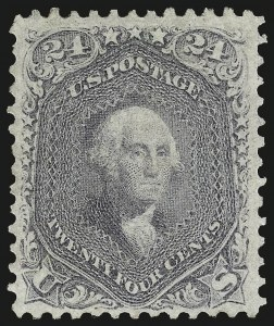 Sale Number 983, Lot Number 53, 1861-66 Issue24c Grayish Lilac (78a), 24c Grayish Lilac (78a)