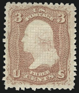 Sale Number 983, Lot Number 59, 1867-68 Grilled Issue3c Rose, E. Grill (88), 3c Rose, E. Grill (88)