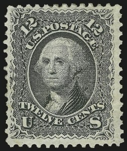 Sale Number 983, Lot Number 60, 1867-68 Grilled Issue12c Black, E. Grill (90), 12c Black, E. Grill (90)