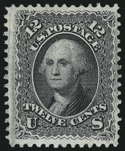 Sale Number 983, Lot Number 67, 1867-68 Grilled Issue12c Black, F. Grill (97), 12c Black, F. Grill (97)