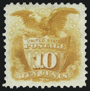 Sale Number 983, Lot Number 87, 1875 Re-Issue of 1869 Pictorial Issue 10c Yellow, Re-Issue (127), 10c Yellow, Re-Issue (127)