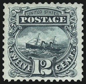 Sale Number 983, Lot Number 88, 1875 Re-Issue of 1869 Pictorial Issue 12c Green, Re-Issue (128), 12c Green, Re-Issue (128)