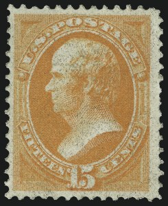 Sale Number 983, Lot Number 99, 1870-88 Bank Note Issues15c Orange, Grill (141), 15c Orange, Grill (141)