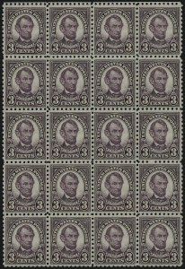 Sale Number 984, Lot Number 1004, 1922-29 and Later Issues (Scott 574 onwards)3c Violet, Perf 10 (584), 3c Violet, Perf 10 (584)