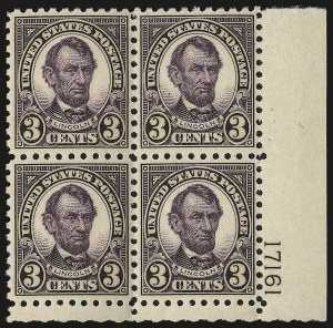 Sale Number 984, Lot Number 1005, 1922-29 and Later Issues (Scott 574 onwards)3c Violet, Perf 10 (584), 3c Violet, Perf 10 (584)