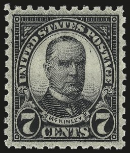 Sale Number 984, Lot Number 1008, 1922-29 and Later Issues (Scott 574 onwards)7c Black, Perf 10 (588), 7c Black, Perf 10 (588)