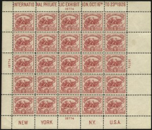 Sale Number 984, Lot Number 1014, 1922-29 and Later Issues (Scott 574 onwards)2c White Plains Souvenir Sheet (630), 2c White Plains Souvenir Sheet (630)