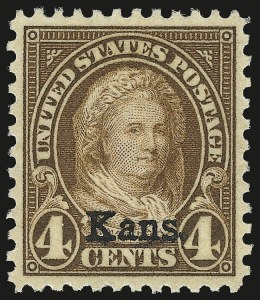 Sale Number 984, Lot Number 1019, 1922-29 and Later Issues (Scott 574 onwards)4c Kans. Ovpt. (662), 4c Kans. Ovpt. (662)