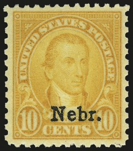 Sale Number 984, Lot Number 1022, 1922-29 and Later Issues (Scott 574 onwards)10c Nebr. Ovpt. (679), 10c Nebr. Ovpt. (679)