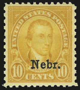 Sale Number 984, Lot Number 1023, 1922-29 and Later Issues (Scott 574 onwards)10c Nebr. Ovpt. (679), 10c Nebr. Ovpt. (679)