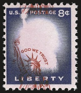 Sale Number 984, Lot Number 1029, 1922-29 and Later Issues (Scott 574 onwards)8c Liberty, Shifted Vignette (1041B var), 8c Liberty, Shifted Vignette (1041B var)