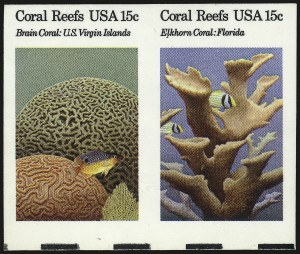 Sale Number 984, Lot Number 1031, 1922-29 and Later Issues (Scott 574 onwards)15c Coral Reefs, Imperforate (1827b-1828b), 15c Coral Reefs, Imperforate (1827b-1828b)