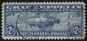 Sale Number 984, Lot Number 1081, Air Post Graf Zeppelin Issue (Scott C13-C15)$2.60 Graf Zeppelin (C15), $2.60 Graf Zeppelin (C15)