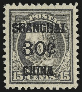 Sale Number 984, Lot Number 1143, Offices in China (K)30c on 15c Offices in China (K12), 30c on 15c Offices in China (K12)