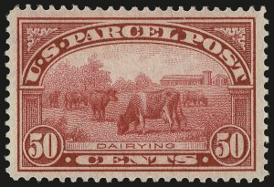 Sale Number 984, Lot Number 1191, Parcel Post, Carriers (Q, JQ, LO, L)50c Parcel Post (Q10), 50c Parcel Post (Q10)