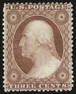 Sale Number 984, Lot Number 137, 3c-5c 1857-60 Issue (Scott 25-30A)3c Rose, Ty. I (25), 3c Rose, Ty. I (25)