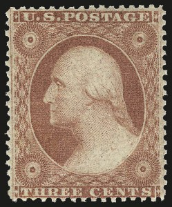 Sale Number 984, Lot Number 140, 3c-5c 1857-60 Issue (Scott 25-30A)3c Dull Red, Ty. III (26). Mint N.H, 3c Dull Red, Ty. III (26). Mint N.H