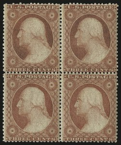 Sale Number 984, Lot Number 142, 3c-5c 1857-60 Issue (Scott 25-30A)3c Dull Red, Ty. III (26). Mint N.H, 3c Dull Red, Ty. III (26). Mint N.H