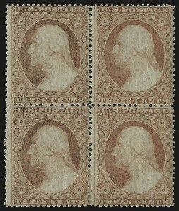 Sale Number 984, Lot Number 143, 3c-5c 1857-60 Issue (Scott 25-30A)3c Dull Red, Ty. III (26), 3c Dull Red, Ty. III (26)